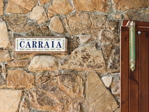 Mura in pietra casa vacanze la Carraia