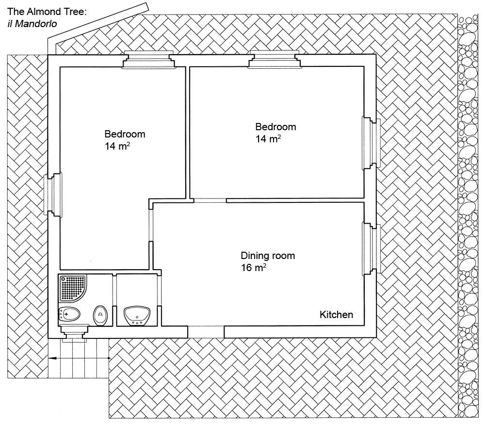 Il mandorlo casa vacanze in toscana agriturismo poggio for Creare una piantina della casa