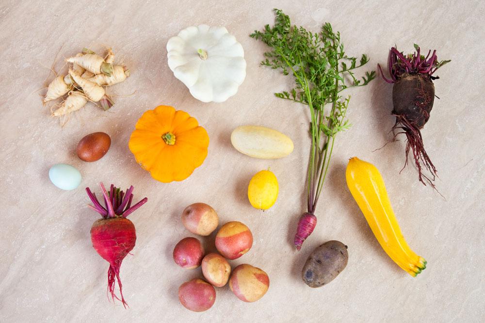 Foto di verdure dimenticate