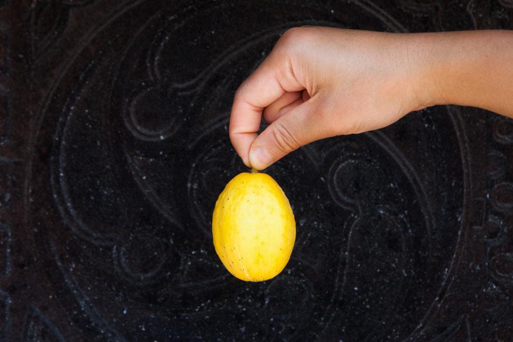 Foto di un cetriolo limone
