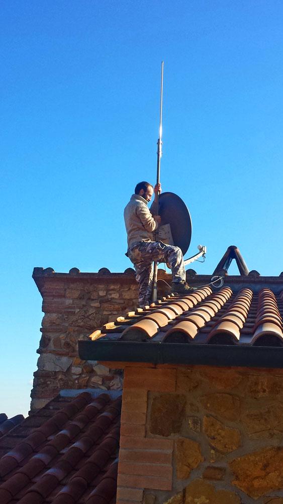 Foto di antenna wifi